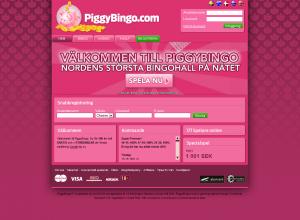 PiggyBingo - Gratis Bingo Pengar (100 Kronor)