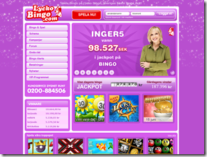 Lyckobing - Spela nästan gratis bingo för 10 öre