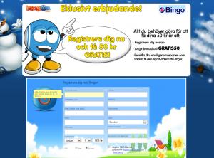 50 kr gratis att spela bingo för, helt utan insättning!