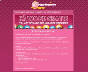 Spela bingo och få ett VISA-kort med €10 helt gratis!