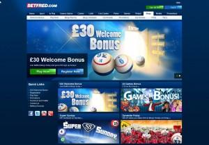 Betfred Bingo - Engelsk bingosida med en välkomstbonus på £30