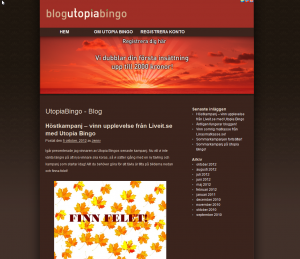 Bli medlem hos Utopiabingo och tävla om ett presentkort!