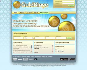 20% insättningsbonus på alla insättningar hos Guldbingo