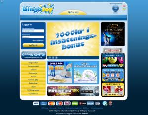 BingoJoy - 2000 kr i insättningsbonus, gratis skraplotter och 50 kr gratis vid registrering!