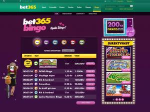 Stor insättningsbonus hos Bet365 Bingo, sätt in 100 kr och få 200 kr extra!