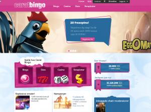 Bingosidan Caratbingo ger dig 20 gratis spins direkt efter registrering!