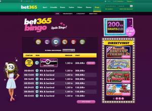 Få en bingo bonus hos Bet365!