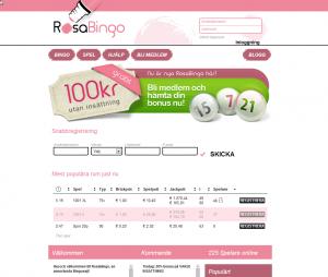 Rosabingo ger dig 100 kronor gratis utan insättning!