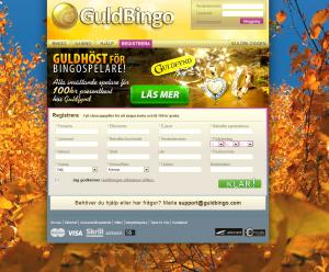 Registrera dig hos Guldbingo och få 100 kr direkt utan insättning!