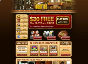 BingoCafe ger dig gratis pengar (30 Euro) utan insättningskrav!