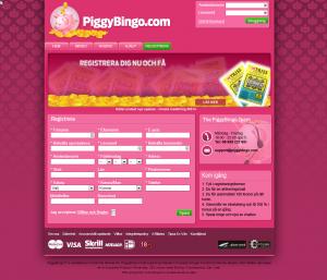 Gratis bingopengar hos Piggybingo under 2014!