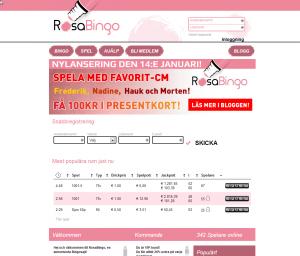Rosa Bingo - Få ett presentkort värt 100 kr!