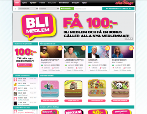 AhaBingo - Riktig Svensk bingo på nätet!