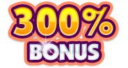 300 procent i bonus