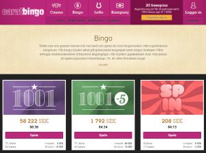 CaratBingo ger dig gratis spel och en bonus på 100%!