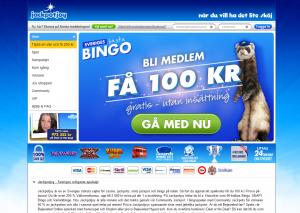 Spela bingo hos Jackpotjoy och få 100 utan insättning!