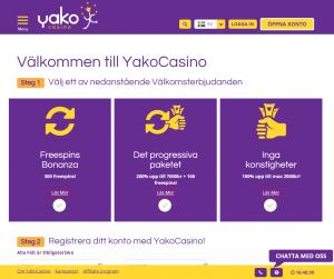 Få 200 freespins som välkomstbonus hos Yako Casino!