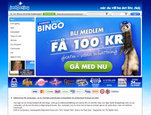 JackpotJoy Bingo ger bort 100 kr gratis!